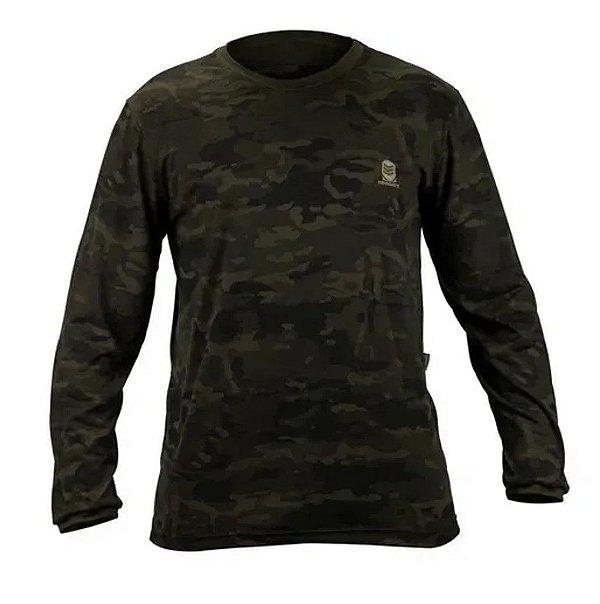 Camisa Manga Longa Multicam Black Resgate Militaria