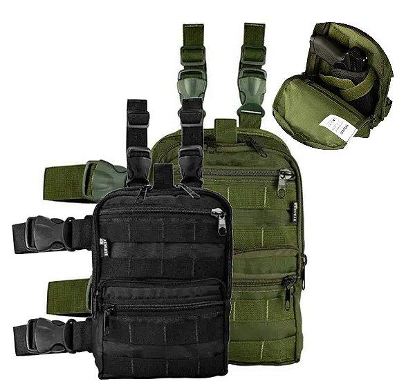 Pochete de Perna Modular com Coldre Resgate Militaria