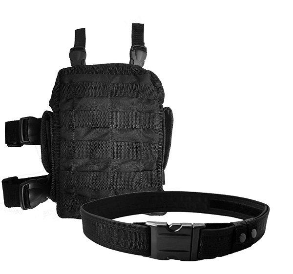 Kit Bornal de perna Tático Modular + Cinto NA WWART