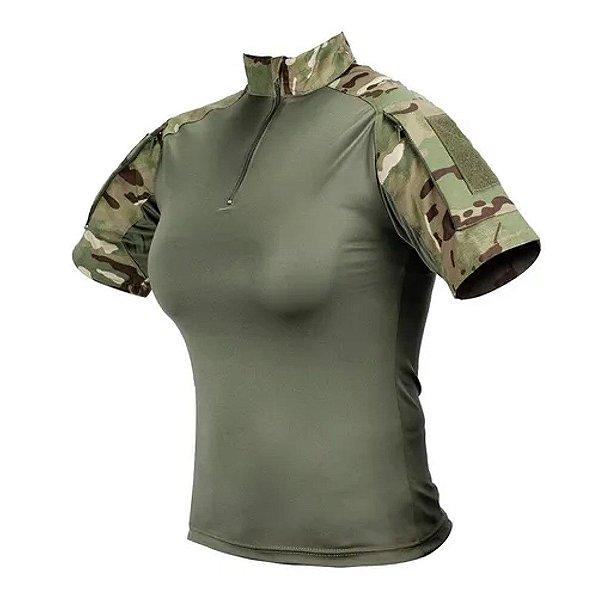 Combat Shirt Feminina Multicam Safo Militar