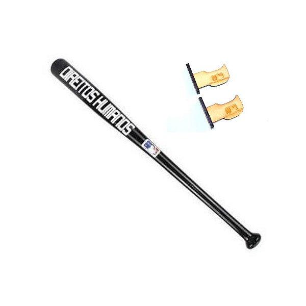 Taco de Baseball Direitos Humanos Preto - Madeira Maciça