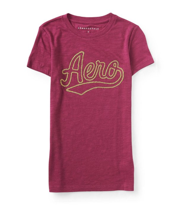 Camiseta Aeropostale Feminina bordada