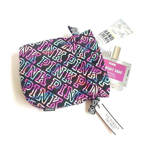 Kit Victorias Secret PINK com Perfume + Creme para as mãos e necessaire Rosa