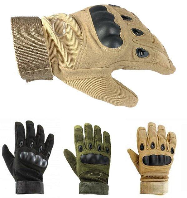 Luva Tática Militar Full Finger - Airsoft - Motociclista