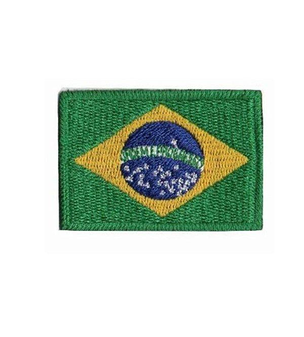 Patch Bandeira do Brasil Bordado Colorido