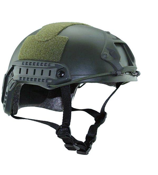 Capacete Airsoft - Tático Militar FAST com Trilhos