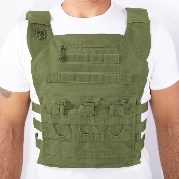Plate Carrier BR Force Gladiador Verde Oliva