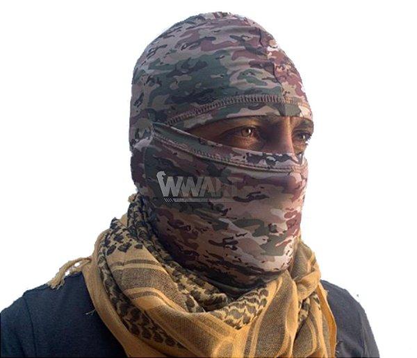 Balaclava Tática Militar SMILE Proteção UV+ Multicam