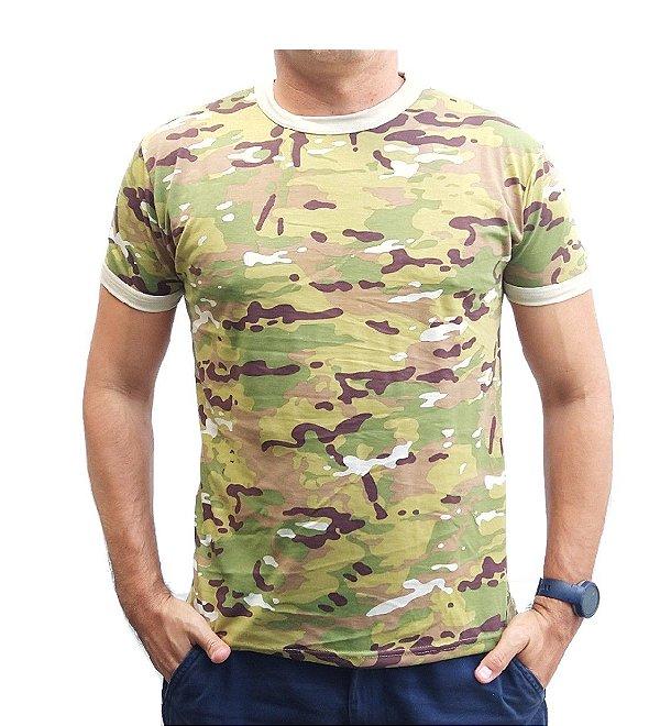 Camiseta Camuflada Multicam