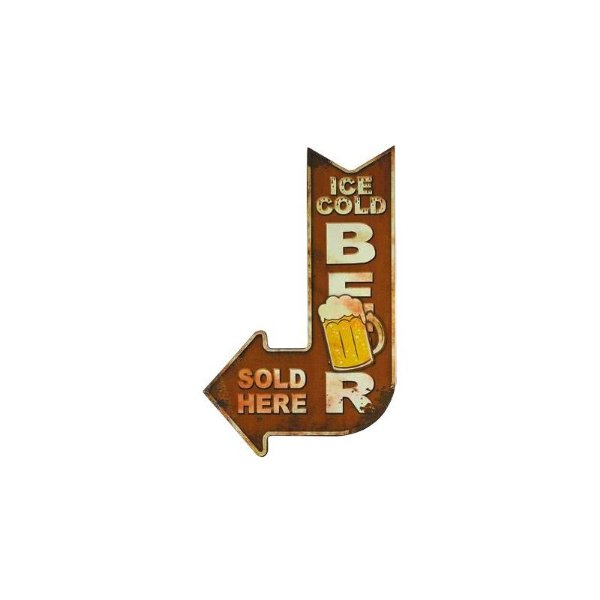 Placa decorativa - Ice cold beer