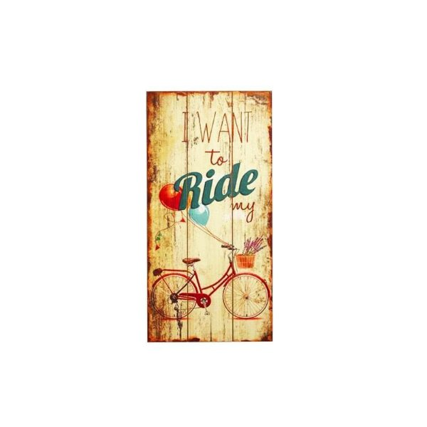 Placa decorativa - I want to ride