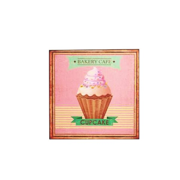 Placa decorativa - Bakery cafe cupcake