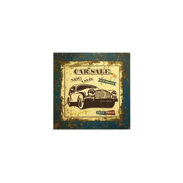 Placa decorativa - Car sale