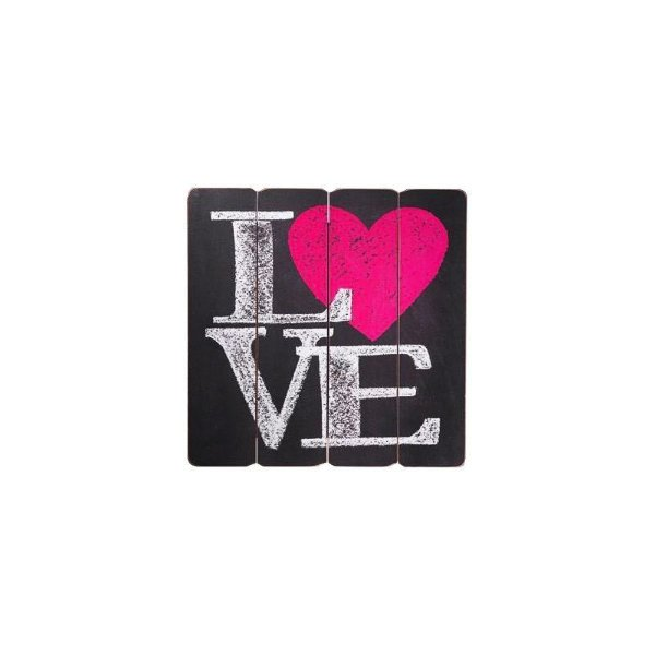 Placa decorativa - Love