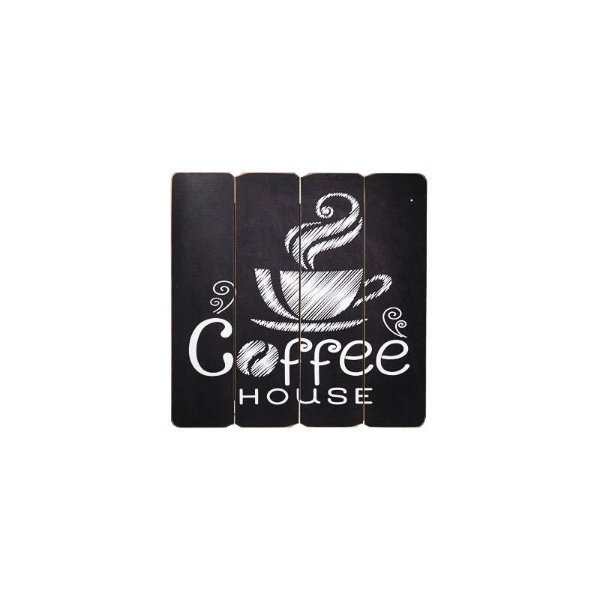 Placa decorativa - Coffee house