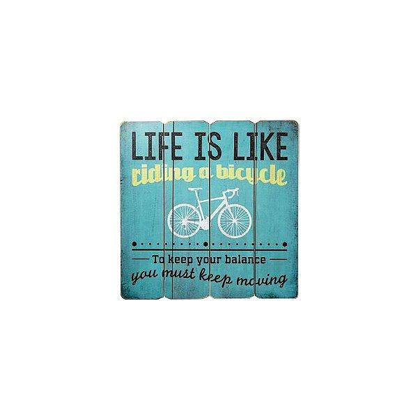 Placa decorativa - Life is like