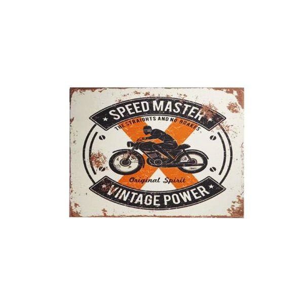 Placa decorativa - Speed master