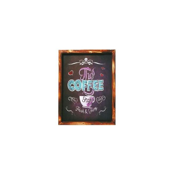 Placa decorativa - The coffee shop