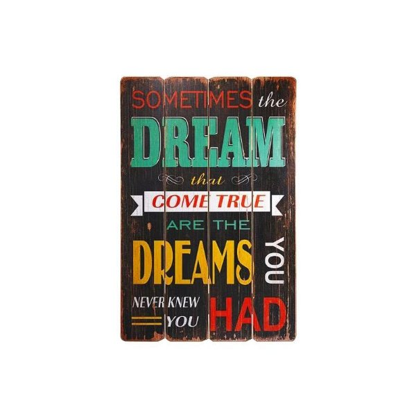 Placa decorativa - Dream