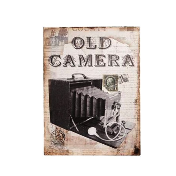 Placa decorativa - Old camera