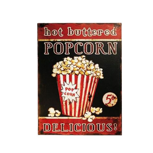 Placa decorativa - Hot buttered popcorn