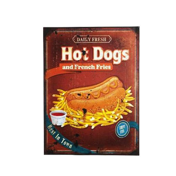 Placa decorativa - Hot dogs