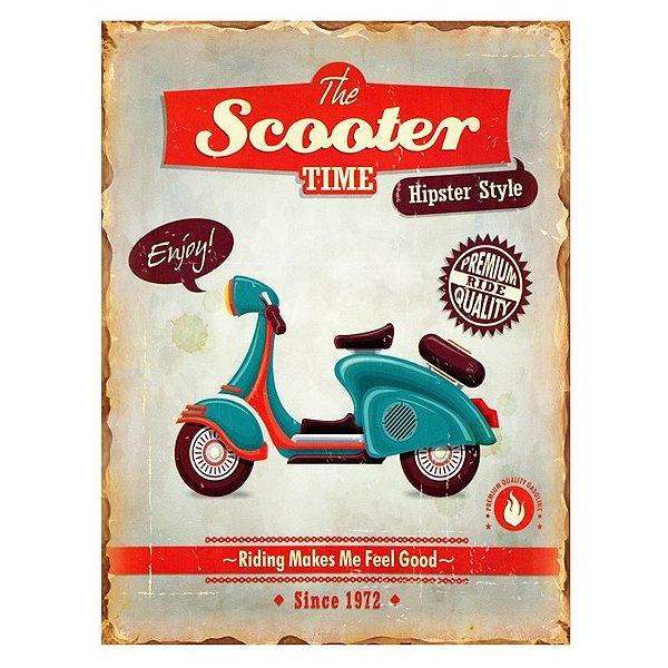 Placa decorativa - The scooter time