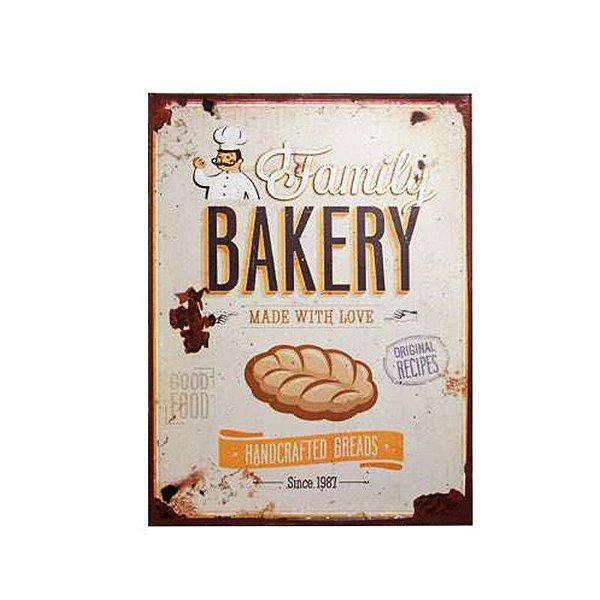 Placa decorativa - Family bakery
