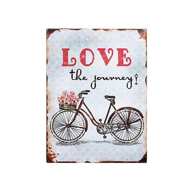 Placa decorativa - Love the journey