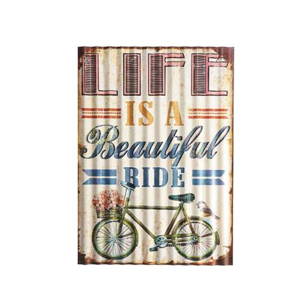 Placa decorativa - Life is a beautiful ride