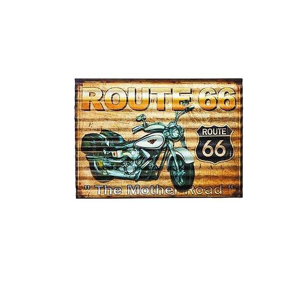 Placa decorativa - Route 66 the mother road