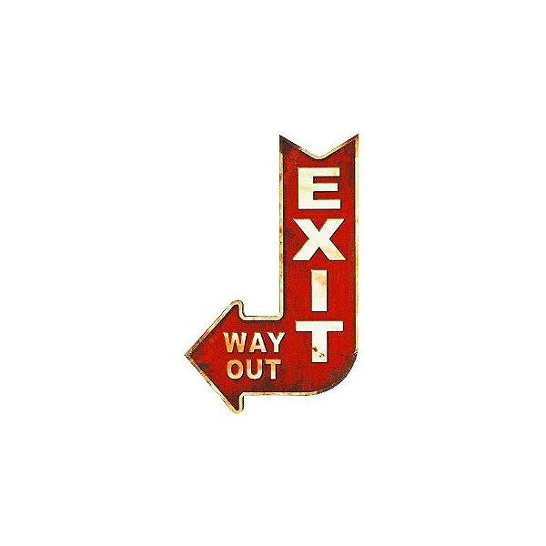 Placa decorativa - Exit