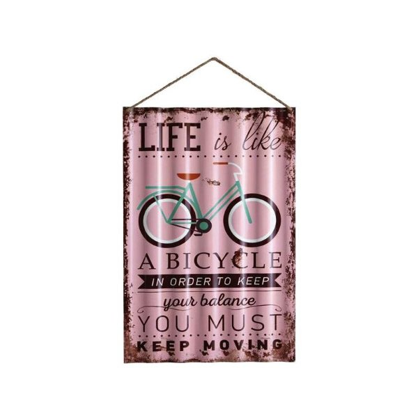 Placa decorativa - Life is like a bicycle
