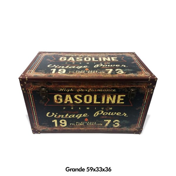 Baú Gasoline vintage - grande