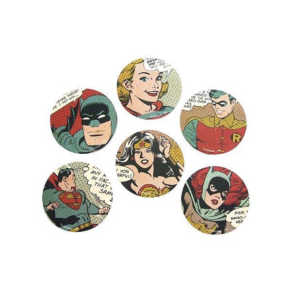 Porta copo - Quadrinhos DC colorido