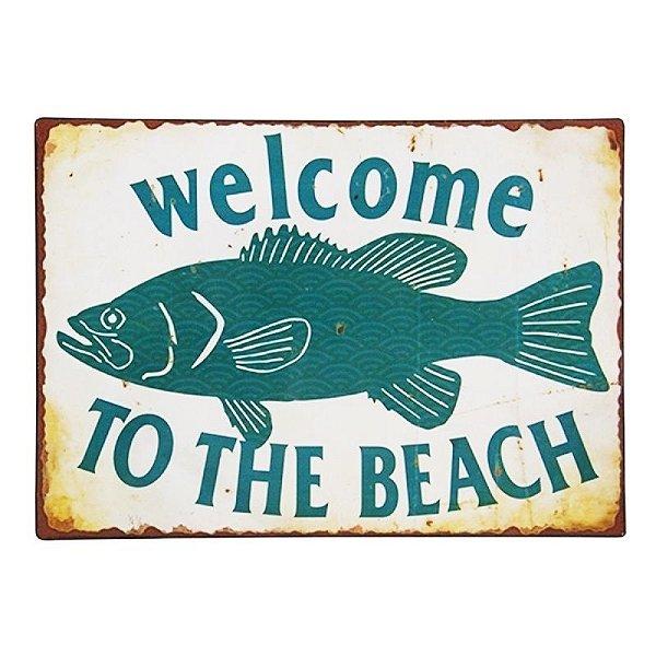 Placa decorativa - Welcome to the beach