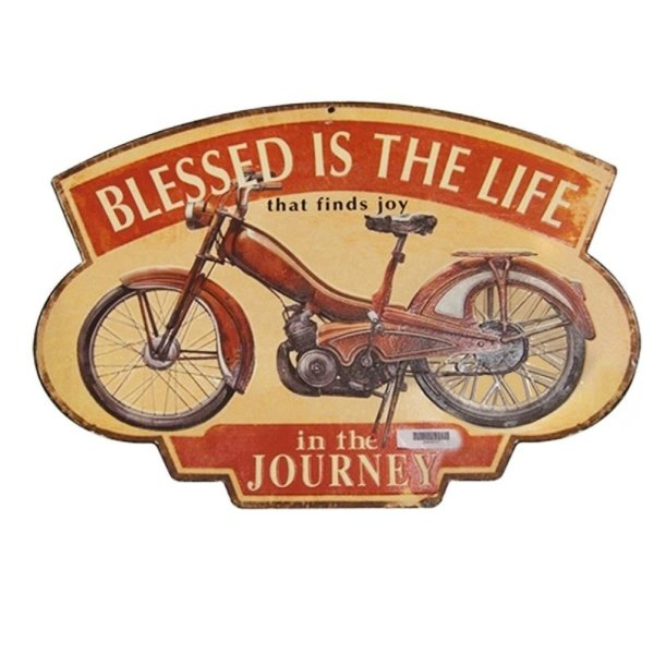 Placa decorativa - Blessed is the life