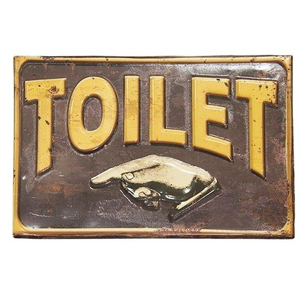 Placa decorativa - Toilet