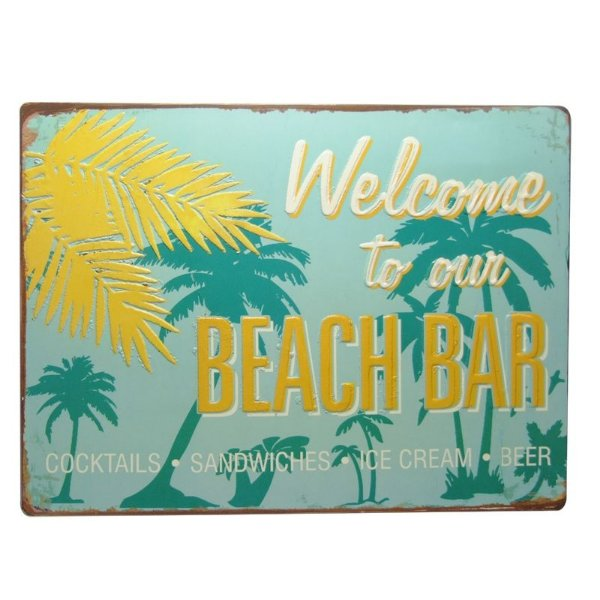 Placa decorativa - Welcome to our beach bar