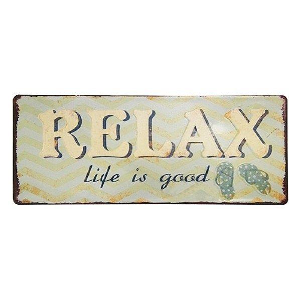 Placa decorativa - Relax