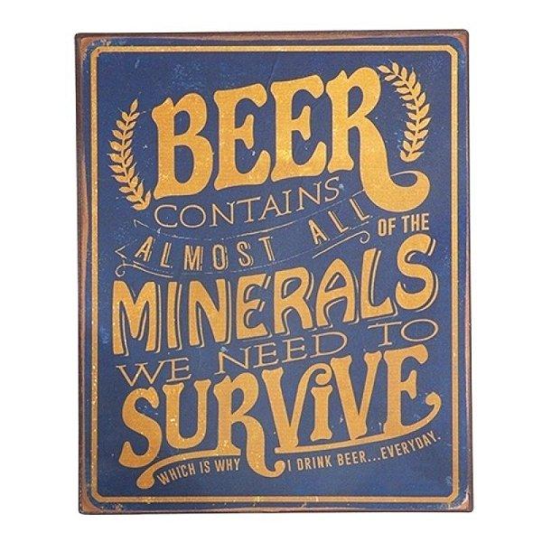 Placa decorativa - Beer contains