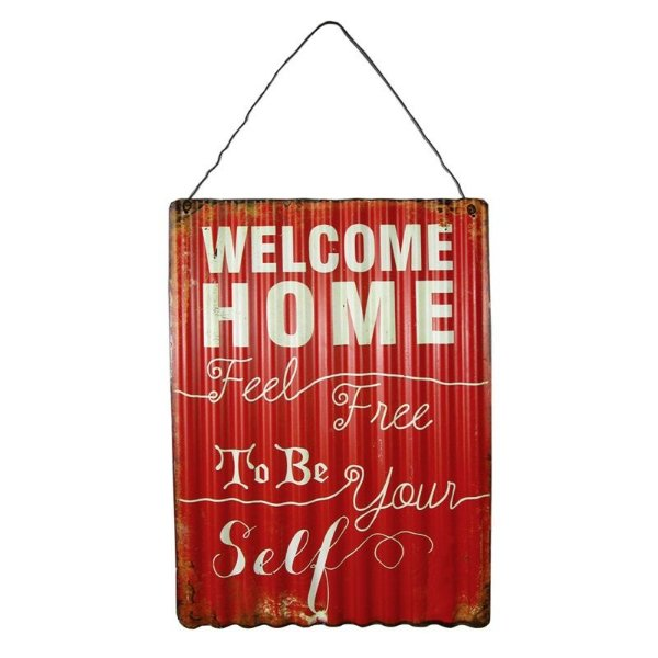 Placa decorativa - Welcome home