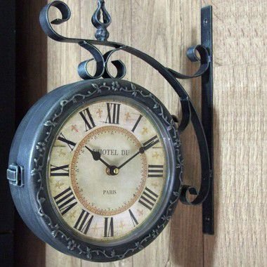 Relógio de parede dupla face - Hotel Du Paris