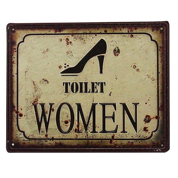 Placa decorativa - Toilet women