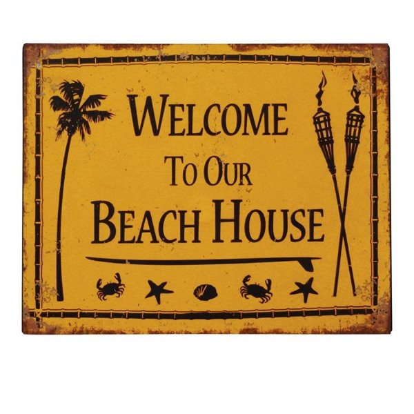 Placa decorativa - Welcome to our beach house