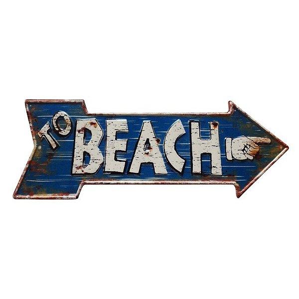 Placa decorativa - To beach