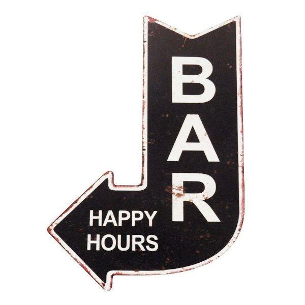 Placa decorativa - Bar happy hours