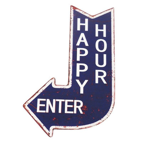 Placa decorativa - Happy hour enter
