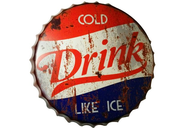Placa tampa decorativa - Cold drink like ice