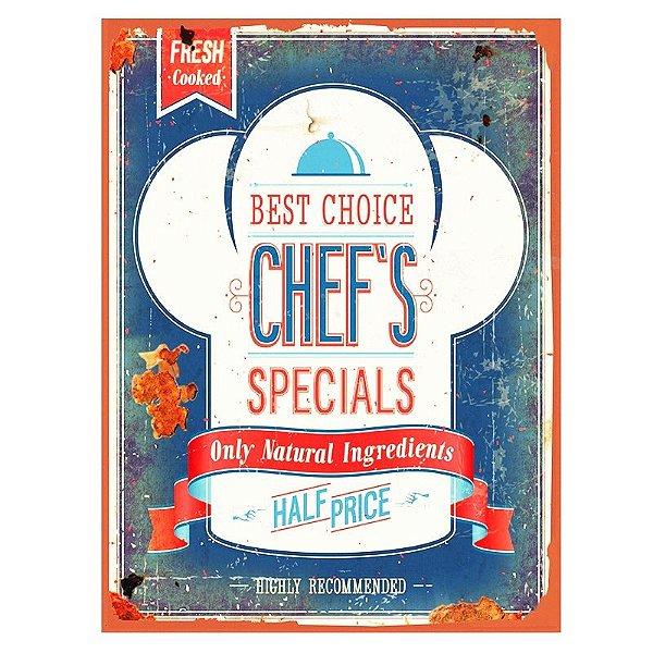 Placa decorativa - Best choice chef's